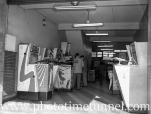Interior of Funlands amusement parlour in Hunter Street, Newcastle, NSW, July 30, 1960.