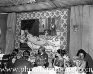 Copy of painting Venus of Urbino at Giuseppe Risicato's Unicorn restaurant at Newcastle, NSW, April 8, 1967.