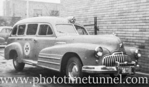Old Buick ambulance.