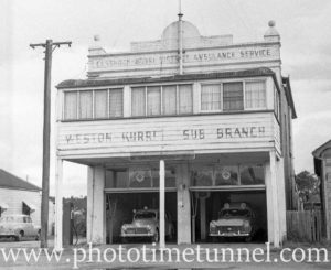 Weston Kurri ambulance station, NSW, circa 1961.