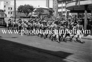 Boy scouts marching in Hunter Street, Newcastle East, NSW, March 7, 1943. (2)