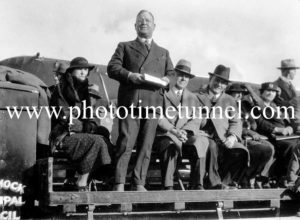 At the opening of Cessnock Aerodrome, NSW, August 1935.