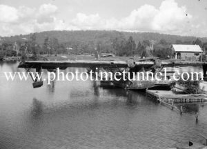 PBY Catalina flying boats on Stoney Creek, Lake Macquarie, March 25, 1947. (2)