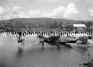 PBY Catalina flying boats on Stoney Creek, Lake Macquarie, March 25, 1947. (4)