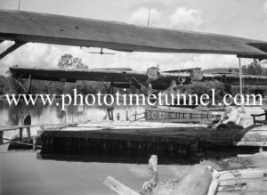PBY Catalina flying boats on Stoney Creek, Lake Macquarie, March 25, 1947. (7)