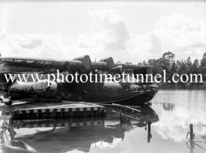 PBY Catalina flying boats on Stoney Creek, Lake Macquarie, March 25, 1947. (9)
