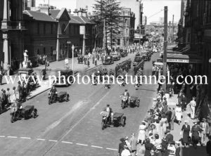 Procession at the funeral of Presbyterian minister and RAAF Chaplain Andrew Robson McVittie in Newcastle on November 6, 1947. (1)