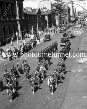 Procession at the funeral of Presbyterian minister and RAAF Chaplain Andrew Robson McVittie in Newcastle on November 6, 1947. (5)