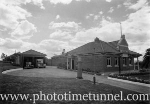 Abermain Mines Rescue Station in the Hunter Valley, NSW, 1942.