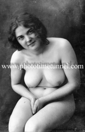 Vintage nude study of seated woman. (2)