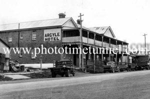 Argyle Hotel, Taralga,NSW circa 1940s.