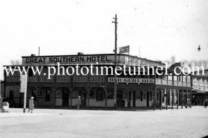 Great Southern Hotel, Wagga Wagga, NSW circa 1940s.