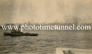 The scuttling of HMAS Australia off Sydney Heads, April 12, 1924.