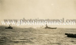 HMAS Australia being scuttled off Sydney Heads, April 12, 1924. (4)