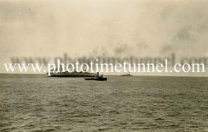HMAS Australia being scuttled off Sydney Heads, April 12, 1924. (5)