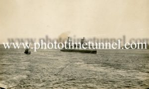 HMAS Australia being scuttled off Sydney Heads, April 12, 1924. (6)