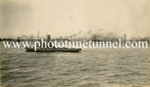 HMAS Australia being scuttled off Sydney Heads, April 12, 1924. (7)