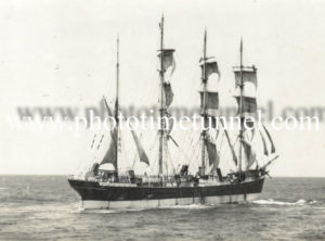 Sailing ship Lawhill off the coast of Newcastle, NSW, 1944. (2)