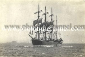 Sailing ship Lawhill off the coast of Newcastle, NSW, 1944. (3)