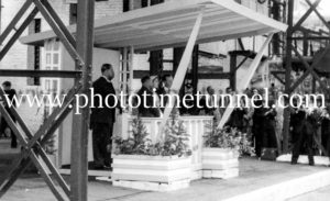 Queen Elizabeth II and Prince Philip at BHP steelworks, Newcastle, NSW, February 9, 1954. (12)