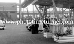 Queen Elizabeth II and Prince Philip at BHP steelworks, Newcastle, NSW, February 9, 1954. (16)