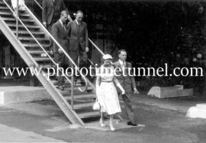 Queen Elizabeth II and Prince Philip at BHP steelworks, Newcastle, NSW, February 9, 1954. (18)
