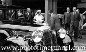 Queen Elizabeth II and Prince Philip at BHP steelworks, Newcastle, NSW, February 9, 1954. (20)