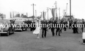 Queen Elizabeth II and Prince Philip at BHP steelworks, Newcastle, NSW, February 9, 1954. (21)