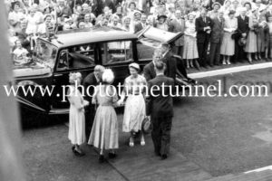 Queen Elizabeth II and Prince Philip at BHP steelworks, Newcastle, NSW, February 9, 1954. (27)