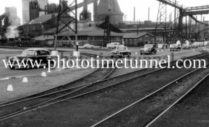Queen Elizabeth II and Prince Philip at BHP steelworks, Newcastle, NSW, February 9, 1954. (30)