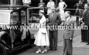 Queen Elizabeth II and Prince Philip at BHP steelworks, Newcastle, NSW, February 9, 1954. (6)