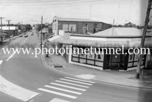 View of Hanbury Street, Mayfield, Newcastle, NSW, 1992.