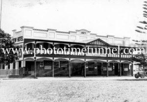 Ocean View Hotel, Urunga, NSW, circa 1950s.