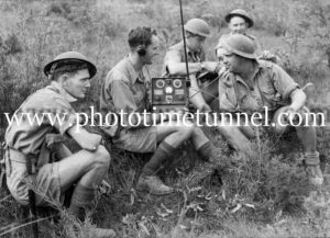 Radio operators training on the NSW coast near Newcastle during World War 2.