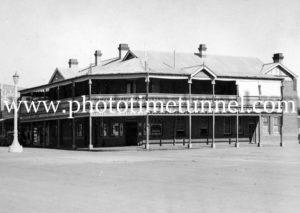 Railway Hotel, Temora, NSW, circa 1950s.