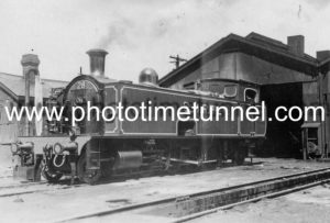 South Maitland Railways locomotive no. 28, after repainting in October 1961. (2)