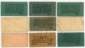 South Maitland Railway tickets (back).