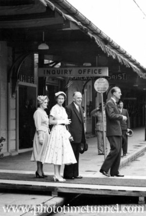 Queen Elizabeth II and Prince Philip at Newcastle, NSW, February 9, 1954.