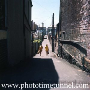 Scene in Newcastle East, NSW, 1970s.