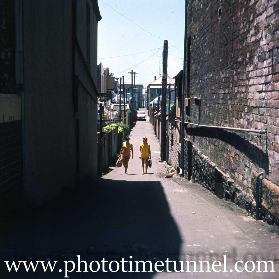 Scene in Newcastle East, NSW, 1970s.