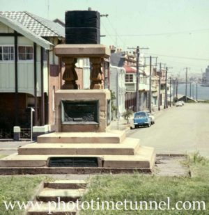 Jubilee coal monument, Newcastle, NSW, circa 1970s.