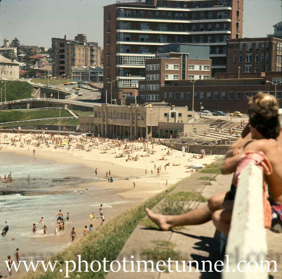Newcastle Beach and Royal Newcastle Hospital, NSW, circa 1979.