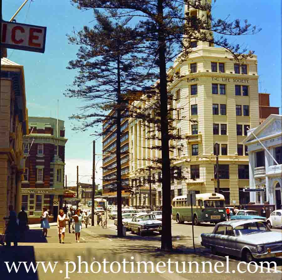 Hunter Street East, Newcastle, NSW, 1970s.