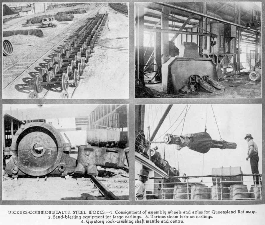 Vickers-Comsteel, Newcastle, NSW, in 1929