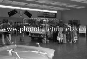 New FB Holdens on show at Newcastle, NSW, car dealership McLeod Kelso and Lee, January 14, 1960 (6).