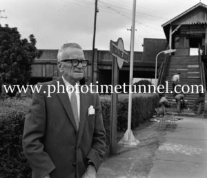 Jimmy Sharman Senior, founder of the boxing troupe, at Newcastle, NSW, in February 1962.