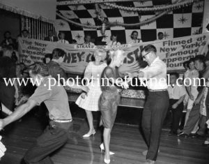 Dancing the twist at the Strand Theatre, Newcastle, NSW, January 1961. (11)