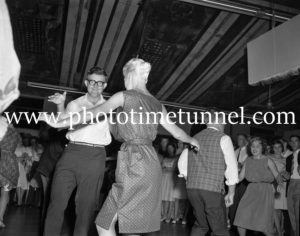 Dancing the twist at the Strand Theatre, Newcastle, NSW, January 1961. (2)