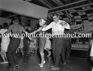 Dancing the twist at the Strand Theatre, Newcastle, NSW, January 1961. (5)