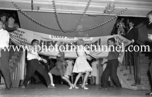 Dancing the twist at the Strand Theatre, Newcastle, NSW, January 1961. (6)